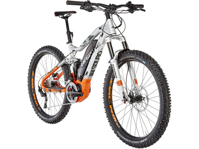 HAIBIKE SDURO FullSeven 8.0 E-MTB fullsuspension orange/sølv | Mountainbikes